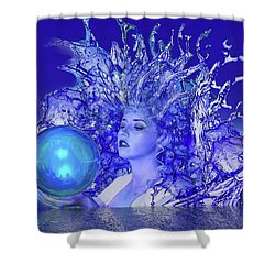 Blue Crystal Shower Curtain by Matthew Lacey