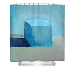 Blue Cube Still Life Shower Curtain by Michelle Calkins