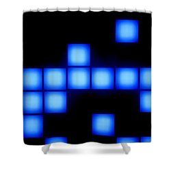 Blue Cubes Shower Curtain by Brandon Tabiolo - Printscapes