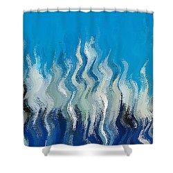 Blue Mist Shower Curtain