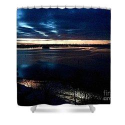 Blue Dawn On Casco Bay Shower Curtain
