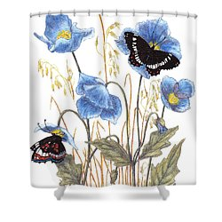 Blue-day Butterfly Shower Curtain