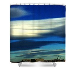 Blue Day Spain  Shower Curtain by Colette V Hera Guggenheim