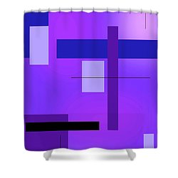 Blue Design 2 Vertical  Shower Curtain