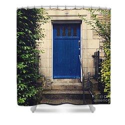 Blue Door In Ivy Shower Curtain