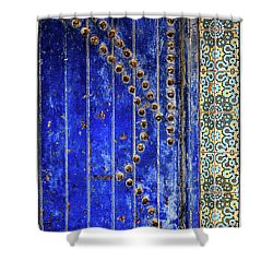 Shower Curtain featuring the photograph Blue Door In Marrakech by Marion McCristall
