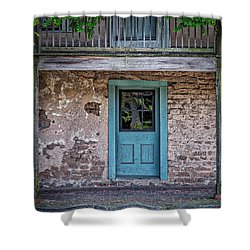 Blue Door Shower Curtain by Jerry Golab