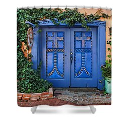 Blue Doors - Old Town - Albuquerque Shower Curtain
