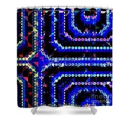 Blue Dot Shower Curtain