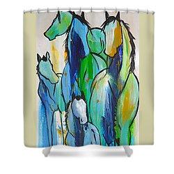 Blue Drip 2 Shower Curtain