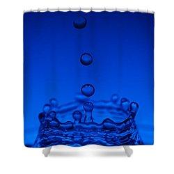 Blue Drop Shower Curtain by Steve Gadomski