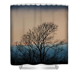 Shower Curtain featuring the photograph Blue Dusk by Chris Berry