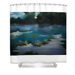 Blue Eden Shower Curtain