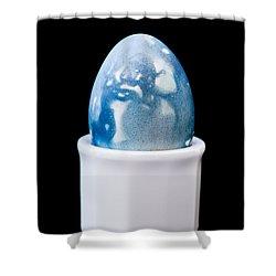 Shower Curtain featuring the photograph Blue Egg by Ari Salmela