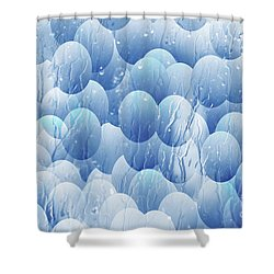 Shower Curtain featuring the photograph Blue Eggs - Abstract Background by Michal Boubin