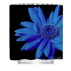 Blue Shower Curtain by Elfriede Fulda