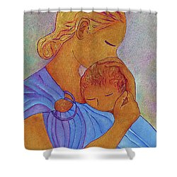 Blue Embrace Shower Curtain by Gioia Albano