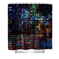 Blue Evening Shower Curtain
