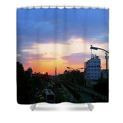 Blue Evening Sky Shower Curtain