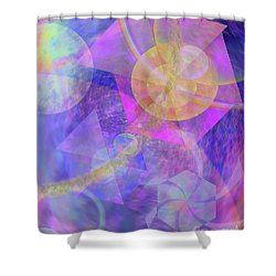 Blue Expectations Shower Curtain by John Beck