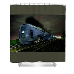 Blue Express Shower Curtain