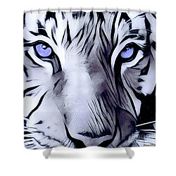 Blue Eyed Tiger Shower Curtain