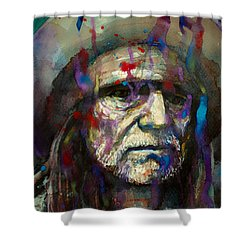 Blue Eyes Crying In The Rain Shower Curtain