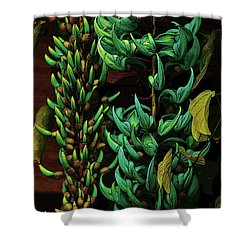 Blue Jade Vine Shower Curtain