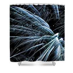 Shower Curtain featuring the photograph Blue Fairy Fireworks #0710_3 by Barbara Tristan