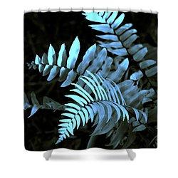 Blue Fern Shower Curtain by Susanne Van Hulst