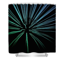 Shower Curtain featuring the photograph Blue Firework by Chris Berry