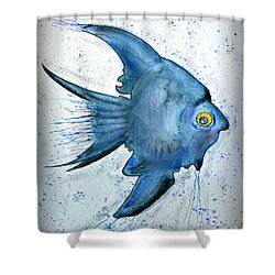 Shower Curtain featuring the photograph Blue Fish by Walt Foegelle