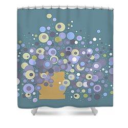 Blue Flora  Shower Curtain
