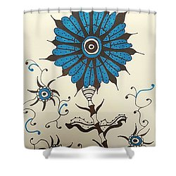 Blue Flower 1 Shower Curtain