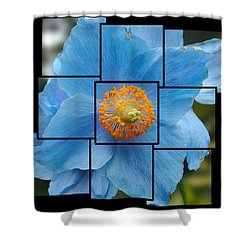 Blue Flower Photo Sculpture  Butchart Gardens  Victoria Bc Canada Shower Curtain