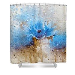 Blue Flowers 4a Shower Curtain