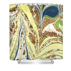 Blue Flowers In Spring Shower Curtain