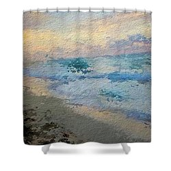 Blue Foam Shower Curtain by Anthony Fishburne