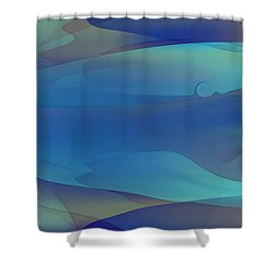 Blue Fog I Shower Curtain by David Klaboe