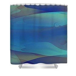 Blue Fog I Shower Curtain