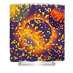 Shower Curtain featuring the digital art Blue Galaxy by Lynda Lehmann