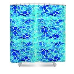 Blue Giraffe Print Shower Curtain