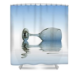 Blue Glass Shower Curtain by David French