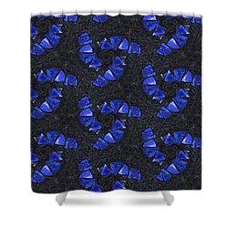 Blue Glass  Shower Curtain
