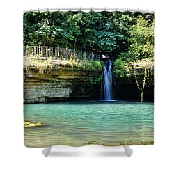Shower Curtain featuring the photograph Blue Glory by Cricket Hackmann