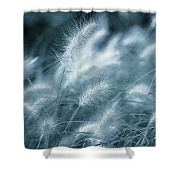 Blue Gras Shower Curtain