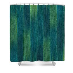 Blue Green Abstract 1 Shower Curtain by Terri Harper