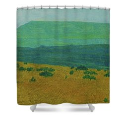 Blue-green Dakota Dream, 1 Shower Curtain
