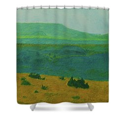Blue-green Dakota Dream, 2 Shower Curtain