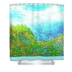 Blue Green Mountain Vista - Colorado Front Range View Shower Curtain